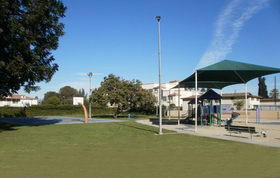 Image of Zamora Park B-Ball Court-Playground