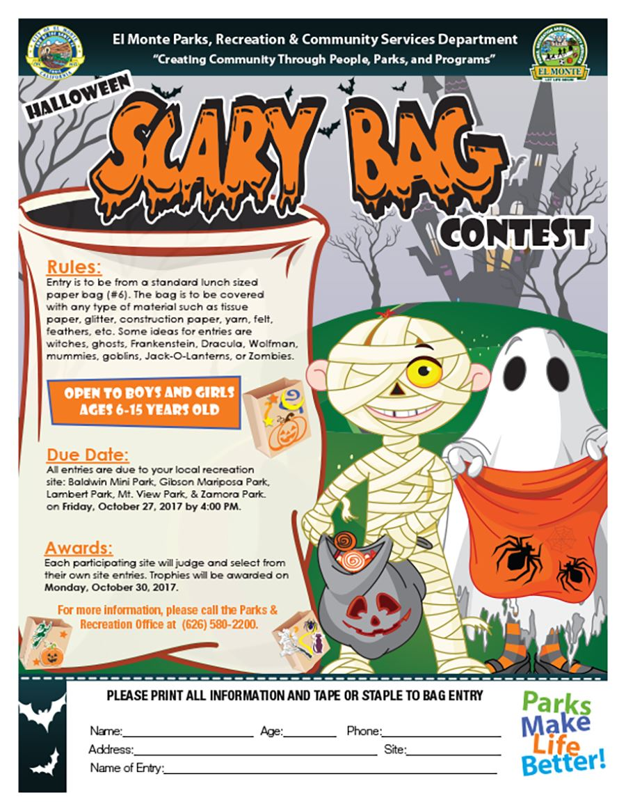 Scary Bag Contest Flyer