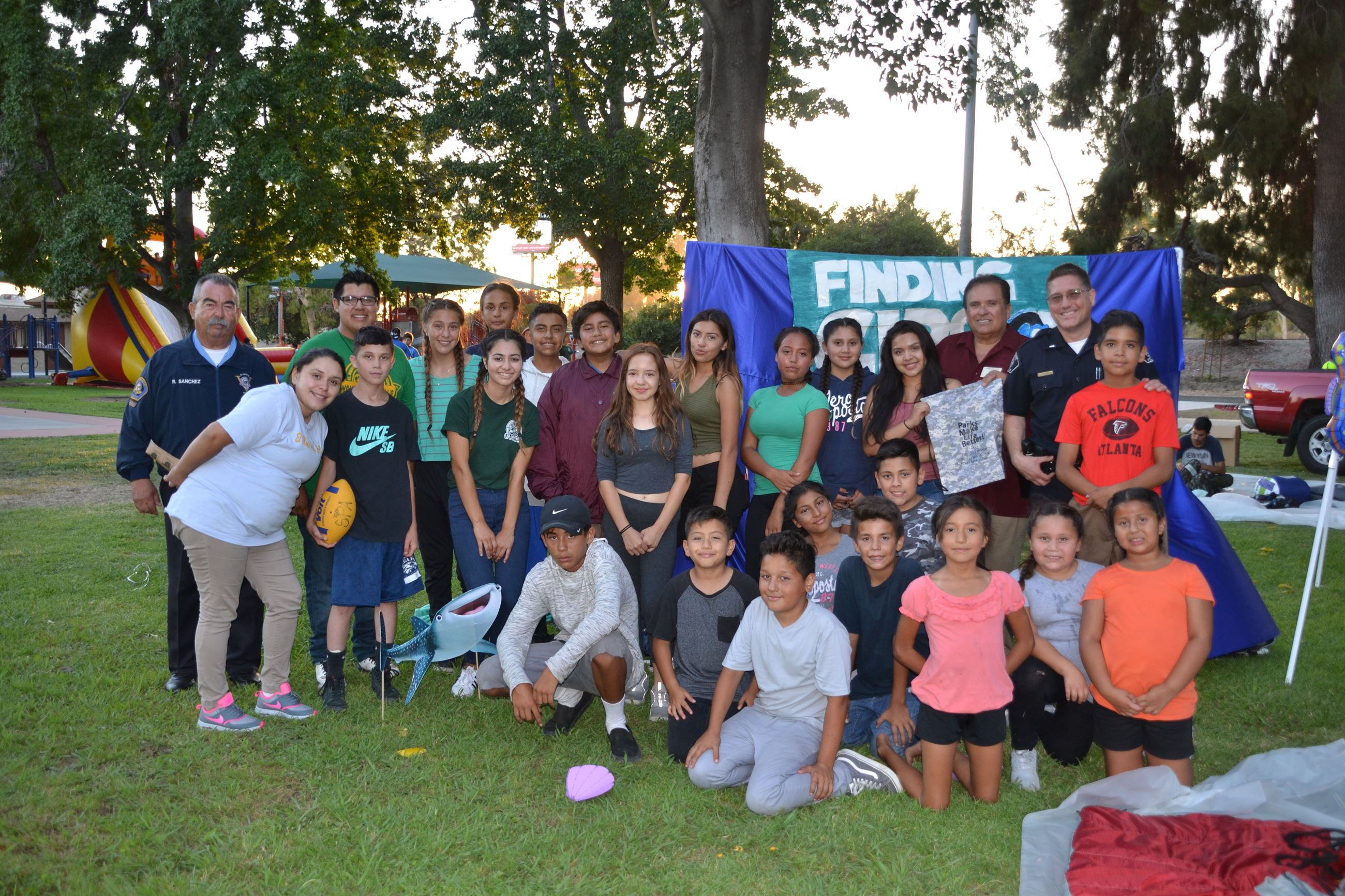Group shot of kids at the Summer Camp Out